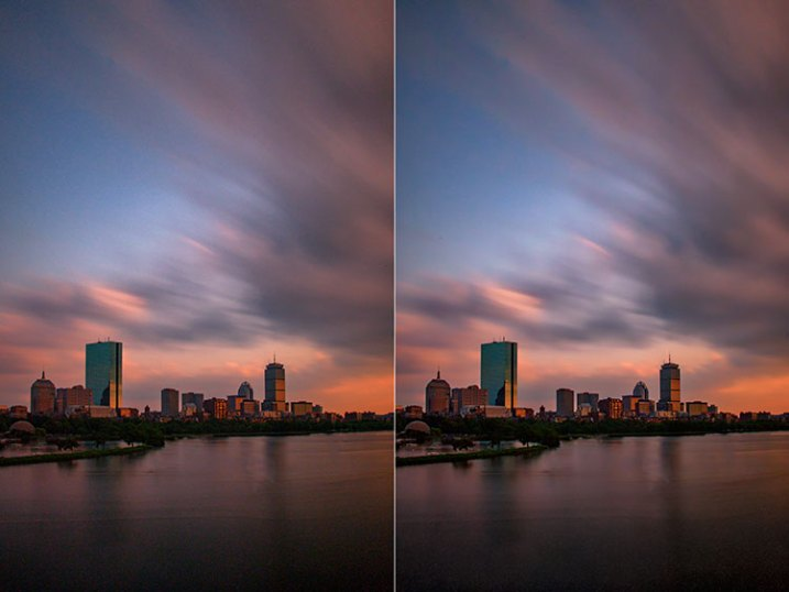 Before and after editing in Macphun Noiseless CK