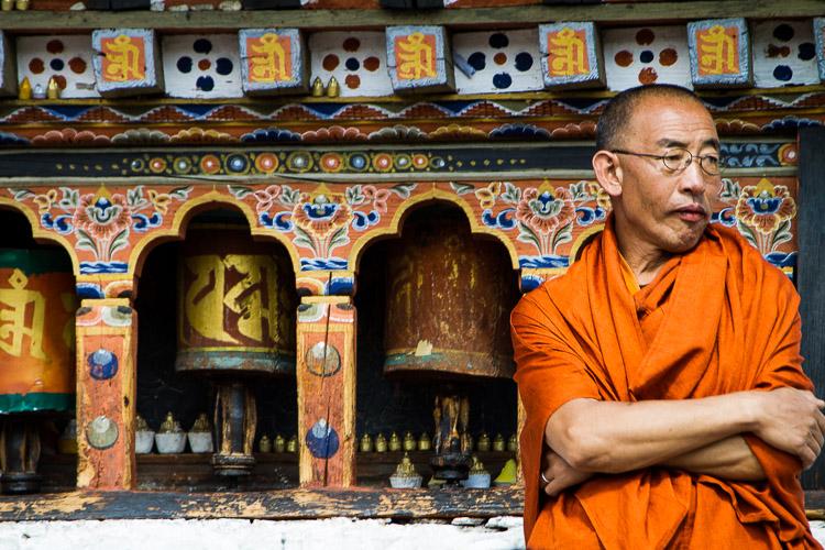 Monk, Paro, Bhutan
