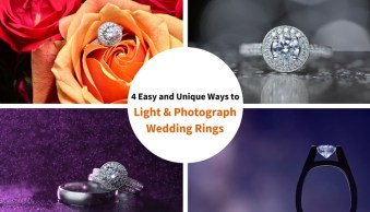 4 Easy and Unique Ways to Light and Photograph Wedding Rings