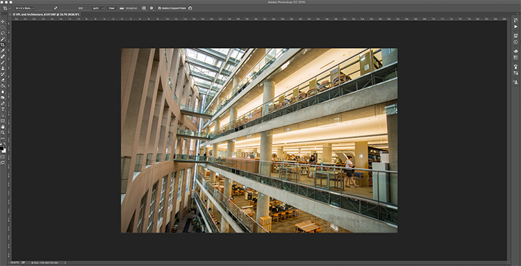 Adaptive Wide Angle tool screen