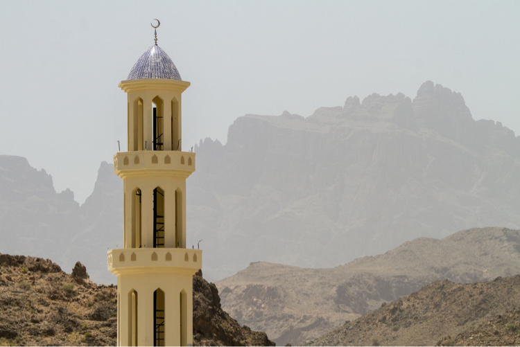 Minaret of a mosque in Oman