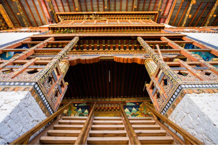 Buddhist Temple in Punakha, Bhutan