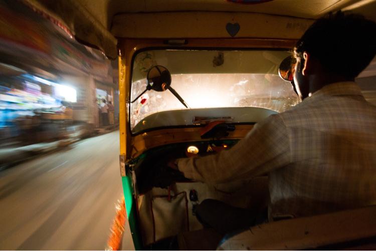 Tuk-tuk ride at night