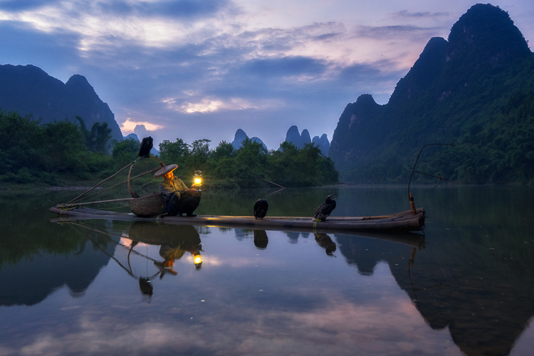 Fisherman in Xingping China