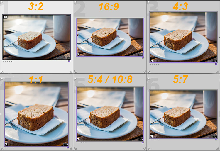 Lightroom export images Crop Comparison