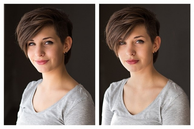natural light portrait setup with and without reflector