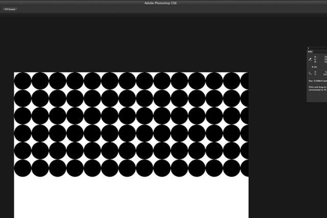 Creating a custom pattern image using the Step and Repeat technique in Photoshop.