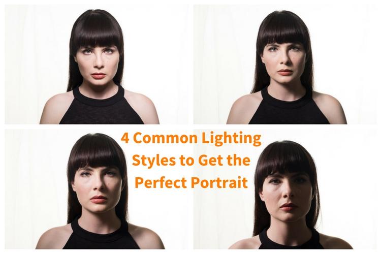 4 common portrait lighting styles