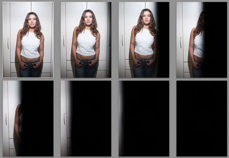 retratos com flash e sem sincronização de alta velocidade
