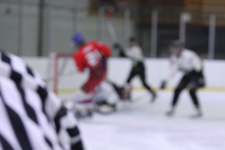 A hockey picture where the focus has missed