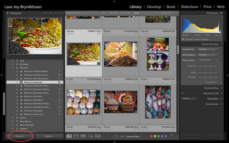 Backing up images traveling 06