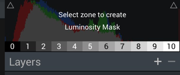 Aurora HDR 2017's Zone System Luminosity Masking.