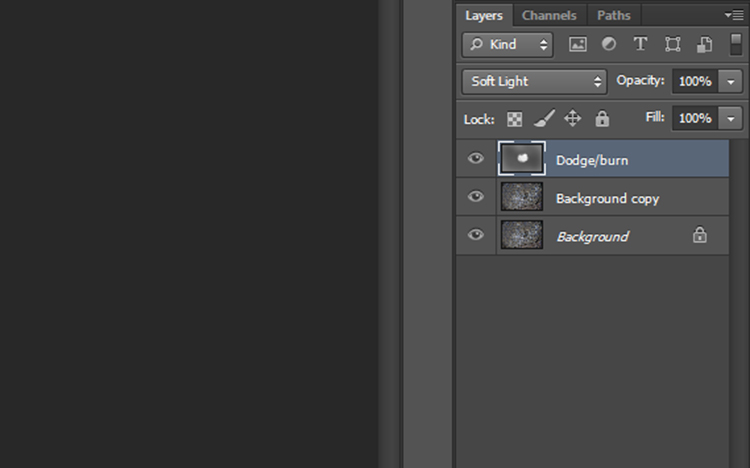 non-destructive editing dodge burn layer