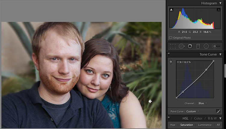 Skin tones Lightroom curves 12