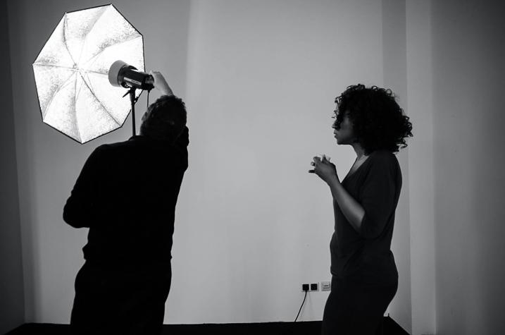 Getting setup for a photo studio shoot