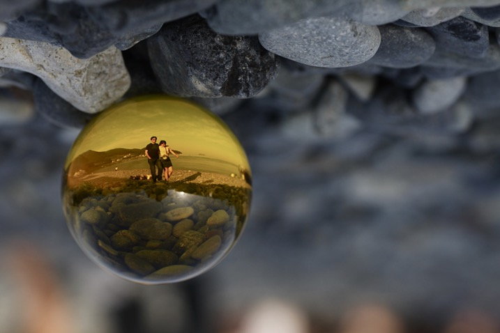glass ball landscape photography