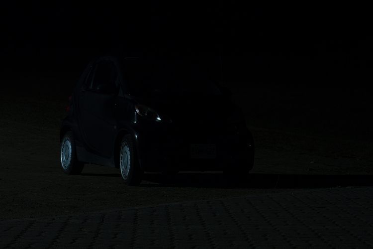 The base exposure for a light painting car image