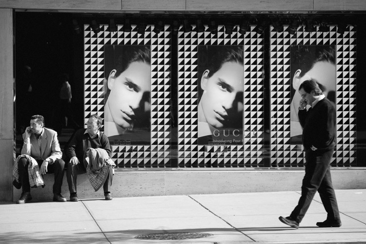 7 Vital Tips to Improve Your Candid Street Photography - Three Men, Gucci, New York Street Photography