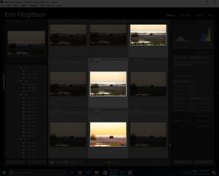 Lightroom features Lights Out in Library module