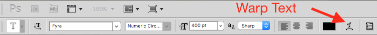 How to Use Photoshop to Create Milestone Photos of Babies warp text