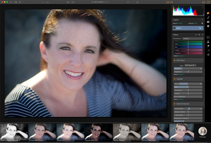 Macphun Luminar Portrait Workspace