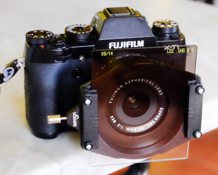 Neutral density filters on a camera