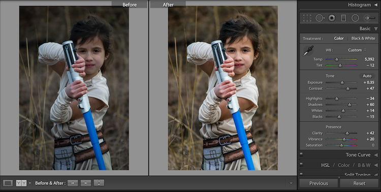 6 Before After Lightroom Edit Star Wars