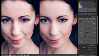 Retouching portraits in Lightroom