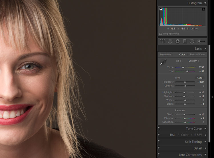 Portrait Post-Processing Workflow Tips - basic adjustments