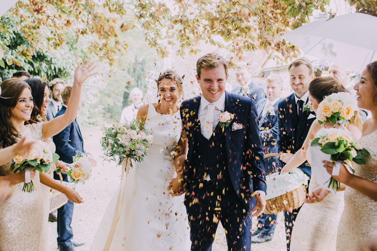 Confetti lighting weddings