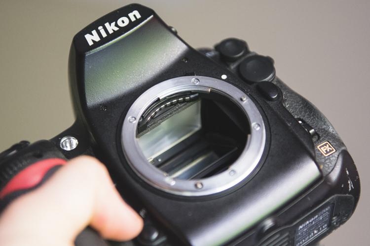Inspect inside of body used camera gear