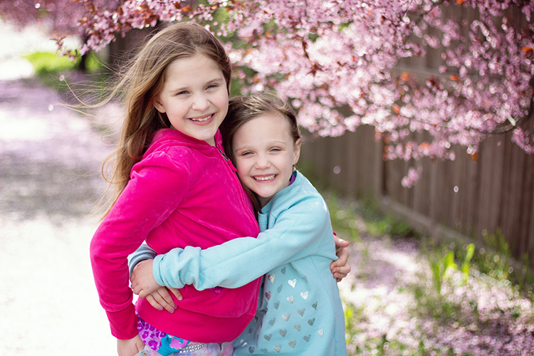 50mm portrait of two girls