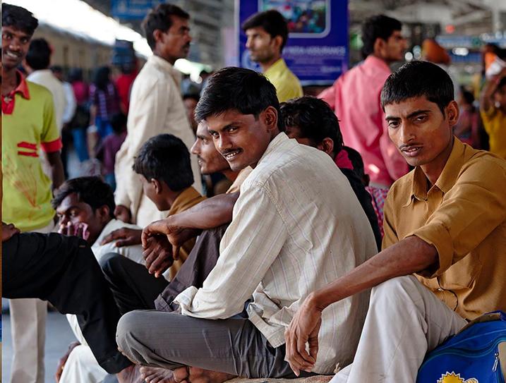 Image: New Delhi train station.