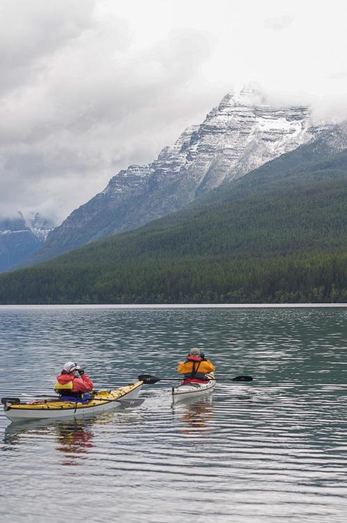Kayaking on a lake - 7 Landscape Photography Tips