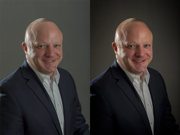 Before and after using PortraitPro 15