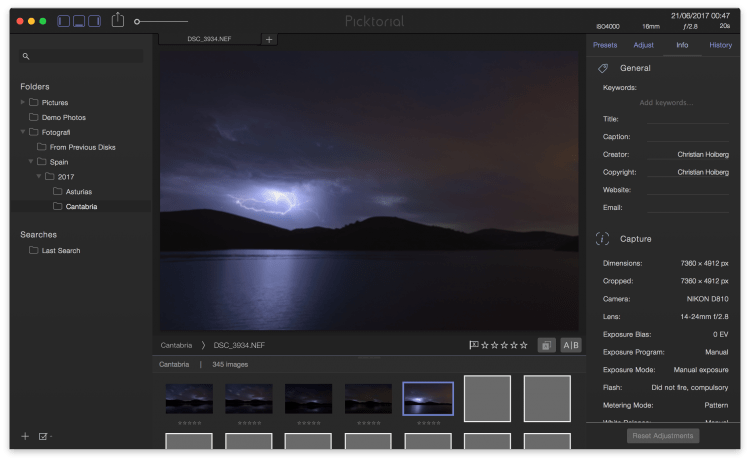 First Impressions of Picktorial Raw Processing Software