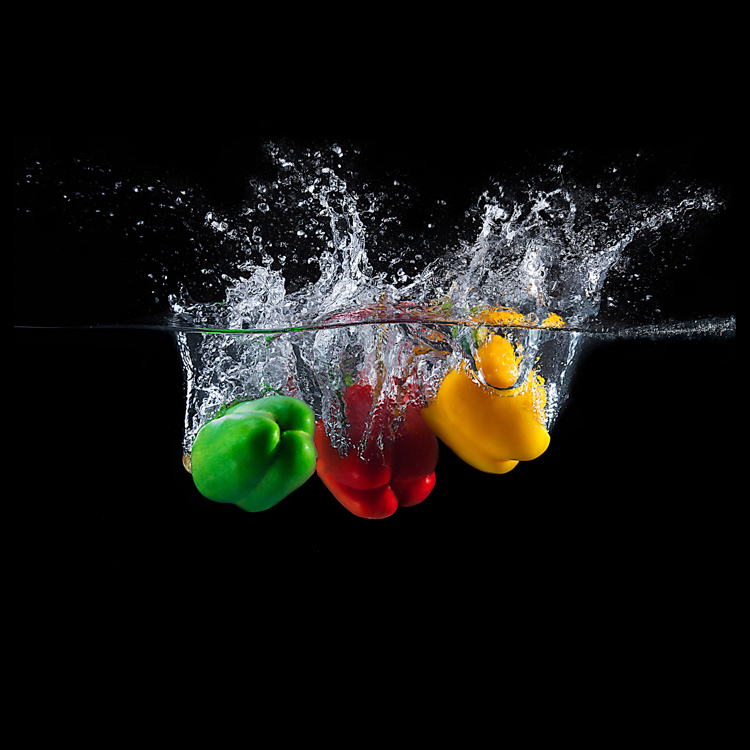 peppers splashing Water Splash Photography Made Easy