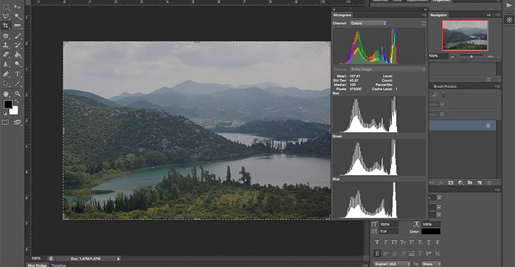 Before - How to Take Control of Contrast Using Curves and Levels in Photoshop