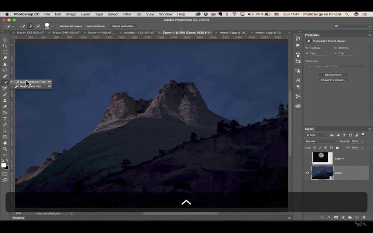 Add moon photoshop 12