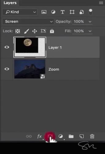 Add moon photoshop 13