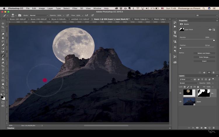 Add moon photoshop 20