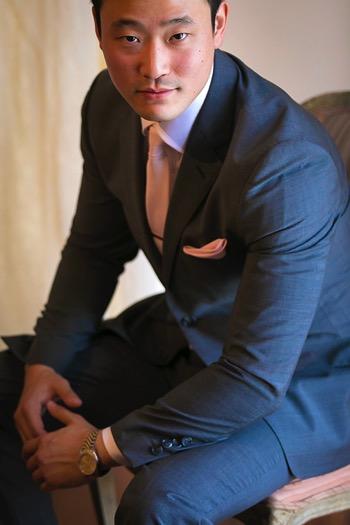 Posing groom 09