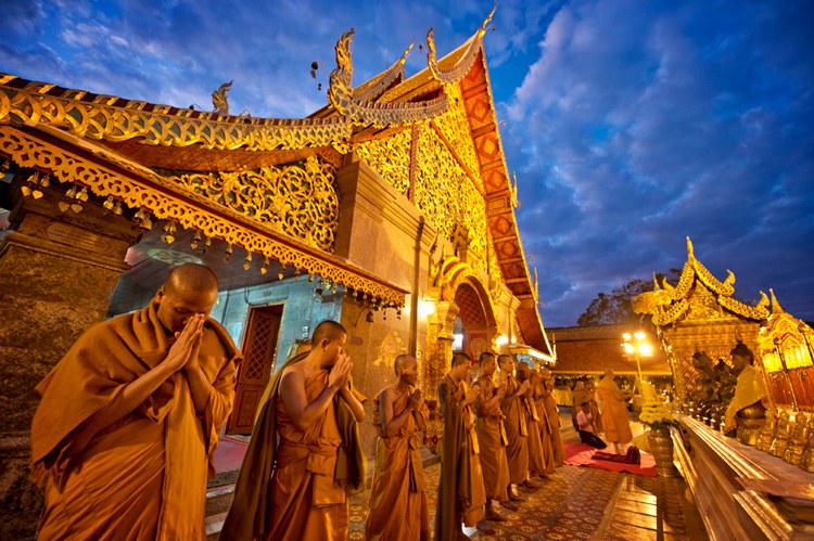 Doi Suthep Temple Monks at Evening Prayers, Chiang Mai, Thailand - 5 Key Elements that Directly Impact the Quality of Your Photography