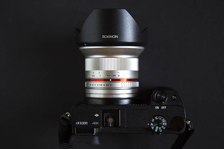 Rokinon 12mm wide angle lens