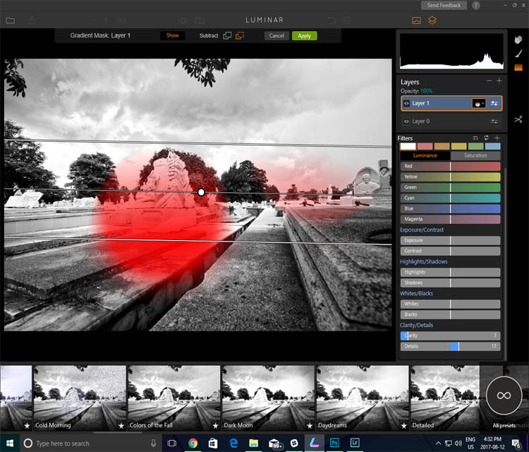 Managing layers and masks can be confusing in Photoshop and for some of it's a real headache. In Luminar, the layers are easy to access and utilize.