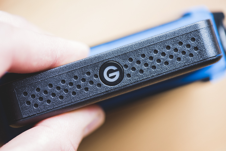 G-Drive ev ATC hard drives - The G drive inside the ATC case