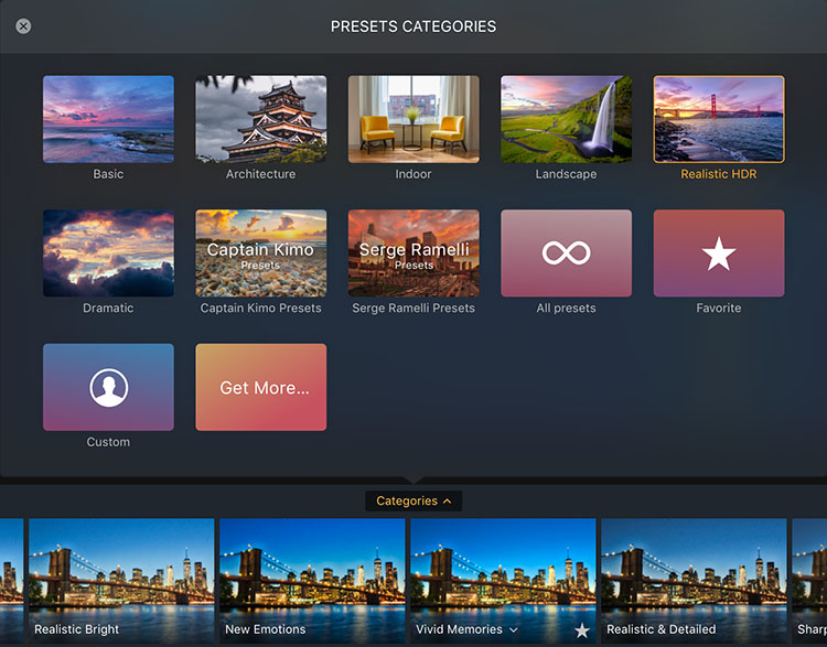 Preset Categories - A Guide To Creating Stunning HDR Images
