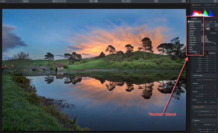 Image: New in Aurora HDR 2018 – Blend Modes! The default is Normal. Notice with this image the...