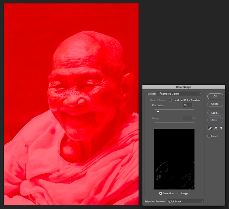 Color range with mask - 5 Reasons for Lightroom Photographers to Use the Edit In Photoshop Feature