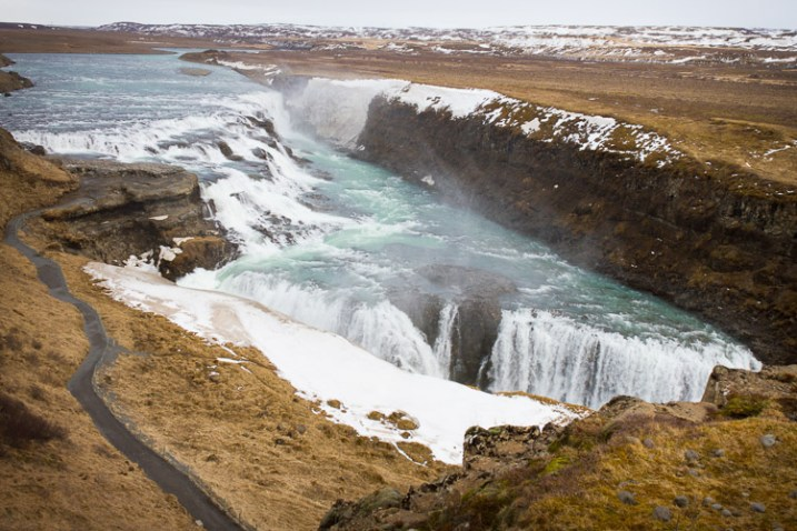 An image showing the scale of the Gullfoss waterfall - How to Show a Sense of Scale in Your Photography